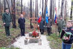Spominska slovesnost za neznanim ruskim vojakom na Črnem Vrhu nad Idrijo